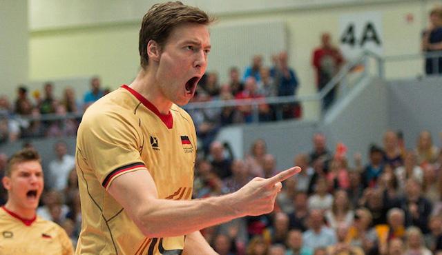 Jochen Schöps jubelt zukünftig im Trikot der United Volles Frankfur<br>Foto: Conny Kurth/DVV