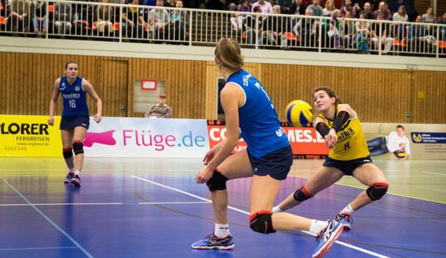 DSHS SnowTrex Köln-Volleyballerinnen besiegen Köpenick erstmals mit 3:0 - Foto: Martin Miseré