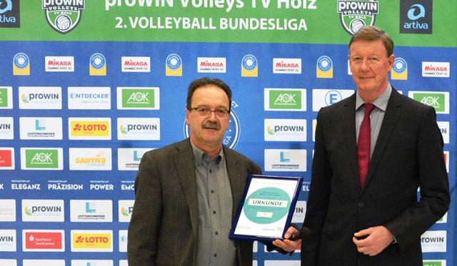 Förderausschuss unterstützt  Volleyball-Spitzensport der proWIN Volleys TV Holz 02 e.V. - Foto: proWIN Volleys TV Holz, Dirk Reckstadt
