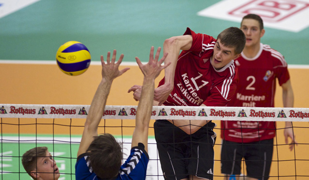 Jakob Günthör (im Angriff) und Jan Jalowietzki (im Hintergrund) haben am Wochenende ihre letzten Spiele für die YoungStars bestritten<br>Foto: Günter Kram