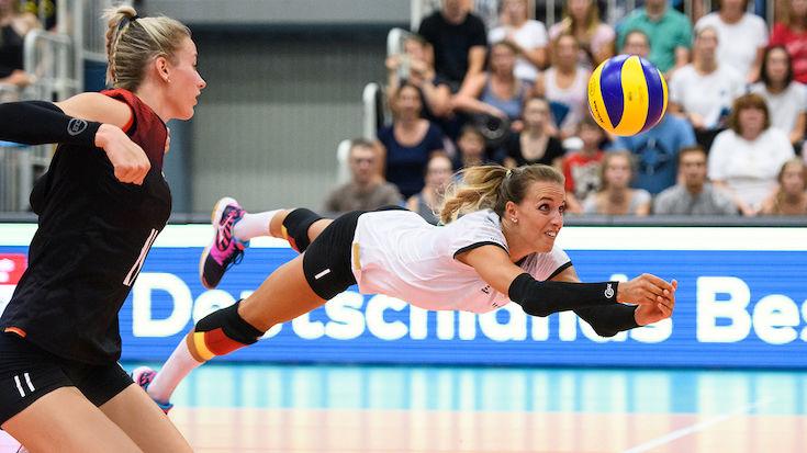 Lenka Dürr mit über 200 Spielen für die Hallen-Nationalmannschaft.<br>Foto: Conny Kurth / DVV