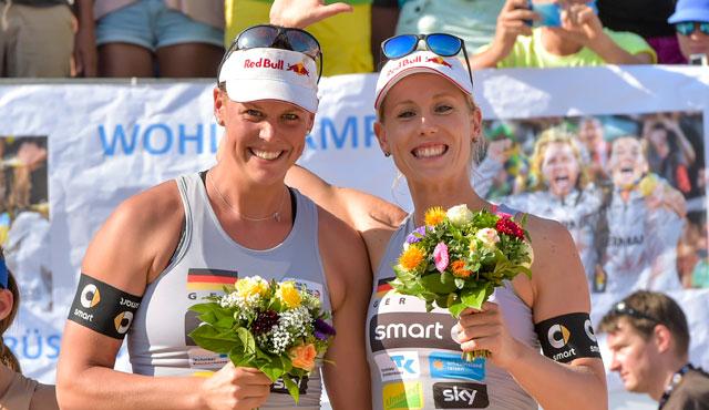 Britta Büthe und Karla Borger <br>Foto: www.tombloch.de
