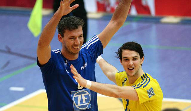 MVP des Spiels - Björn Andrae - feiert den zweiten Sieg in zwei Tagen<br>Foto: Gesa Katz