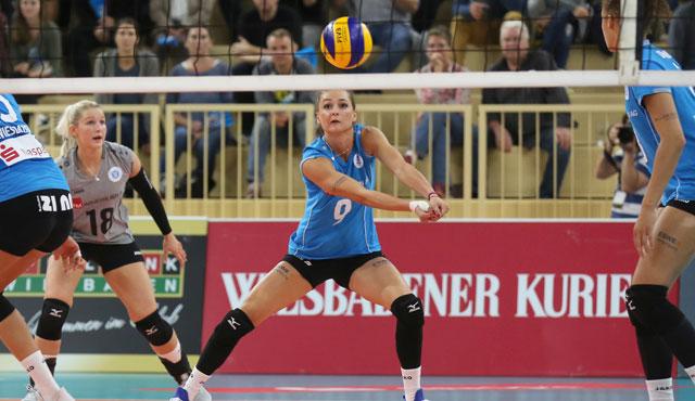 Auch VCW-Angreiferin Dora Grozer will ins DVV-Pokal-Viertelfinale <br>Foto: Detlef Gottwlad