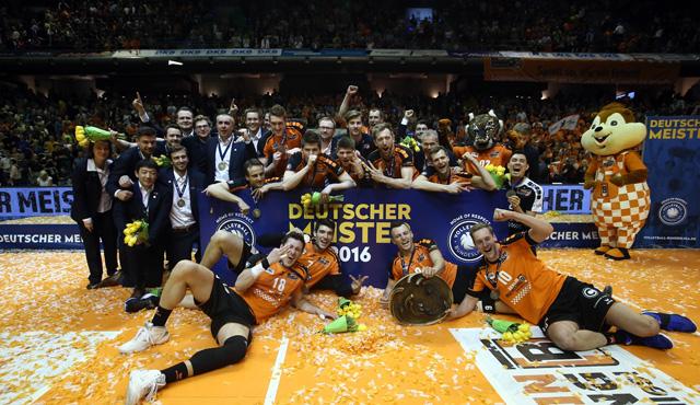 Die BR Volleys sind Deutscher Meister! - Foto: Eckhard Herfet, www.foto-herfet.de)