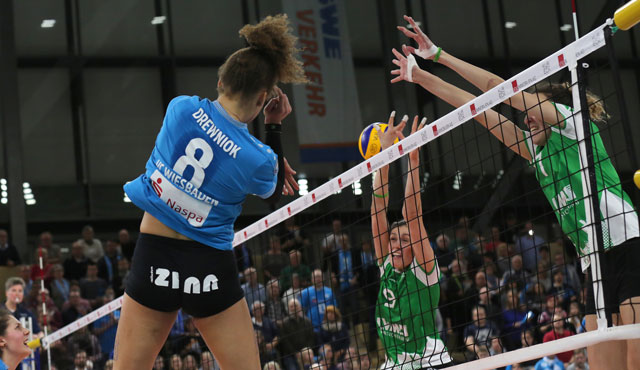 Neue Uhrzeit für das TV-Liga-Topspiel am Mittwoch: VCW empfängt den SC Potsdam schon um 18:30 Uhr - Foto: Detlef Gottwald