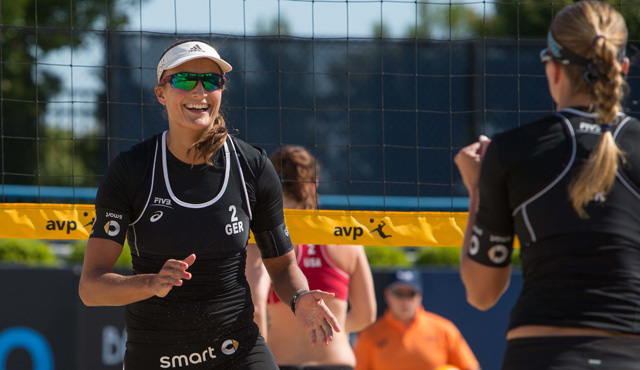 Gimme five in Ohio - : Ilka Semmler (links) und Katrin Holtwick wurden Fünfte bei den Cincinnati Open in Ohio (USA)