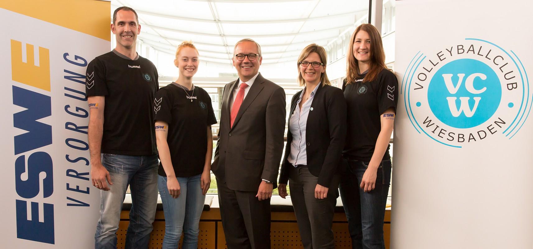 VC Wiesbaden startet international im CEV-Cup, da ESWE Versorgungs AG die Teilnahme möglich macht - Foto: Detlef Gottwald