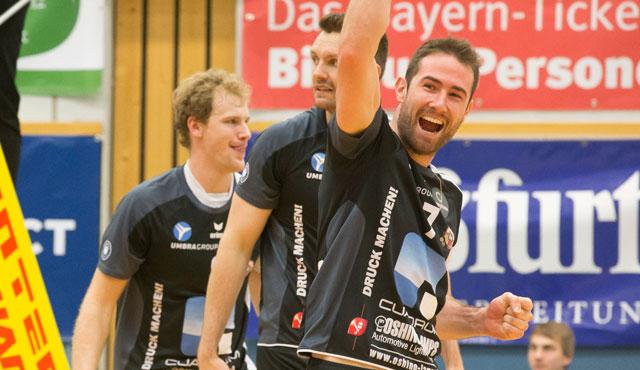 Freiburger Volleyballer hatten im Eschenbacher Hangar in Eltmann beim 3:0 keine Chance - Foto: VC Eltmann / Oshino Volleys Eltmann