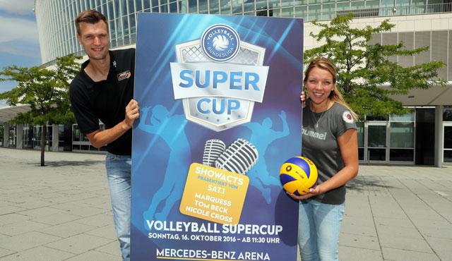 Robert Kromm (BR Volleys) und Katharina Schwabe (Dresdner SC)<br>Foto: www.photowende.com