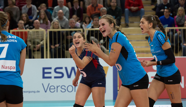 CEV-Cup: Internationaler Spitzenvolleyball in Wiesbaden - Foto: Detlef Gottwald