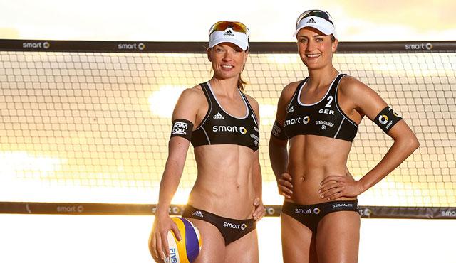 Katrin Holtwick (links) und Ilka Semmler starten zum zehnten Mal bei einer Europameisterschaft<br>Foto: HochZwei/Jürgen Tap