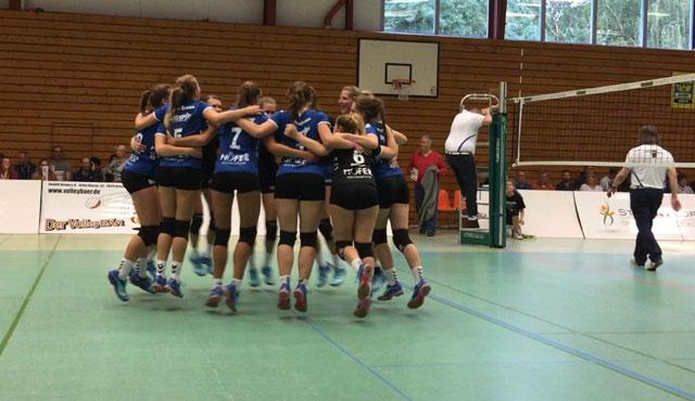 Zweiter 3er im zweiten Spiel für Essener Volleyballerinnen - Foto: VC Allbau Essen