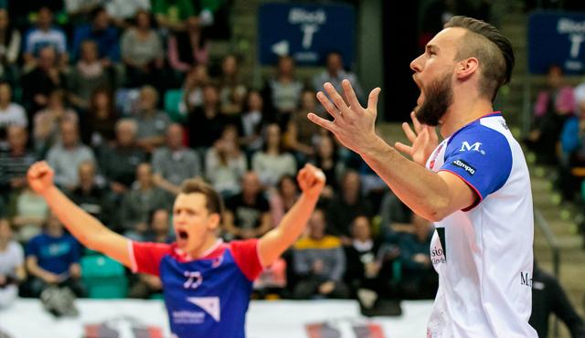 Aufsteiger kämpft gegen Rekordmeister um den Finalplatz - Foto: United Volleys/Gregor Biskup