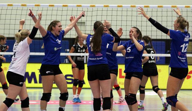 Volleyball-Team Hamburg setzt Siegesserie fort  - Foto: VTH/Lehmann