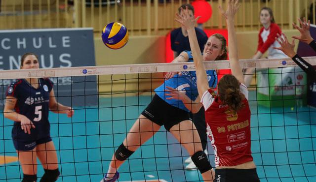 Perfekter Volleyball-Abend: VCW wahrt mit 3:0-Sieg gegen Potsdam Chance aufs Halbfinale - Foto: Detlef Gottwald