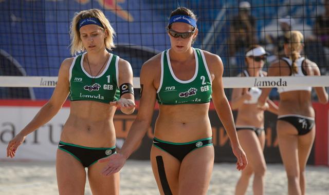 Laura Ludwig (L) und Kira Walkenhorst<br>