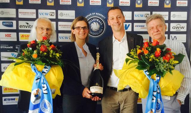 Generationswechsel beim VC Wiesbaden: Sascha Mertes und Nicole Fetting übernehmen Führung bei Verein und Spielbetriebs GmbH - Foto: VC Wiesbaden