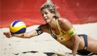 Unnachahmlich! Laura Ludwig ist die Ausnahmeerscheinung im internationalen Beach-Volleyball! Foto: DVV