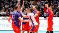 Erst nervös , dann entfesselt: Die United Volleys gewinnen gegen Berlin Foto: United Volleys/Manfred Neumann