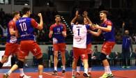 Teamgeist und Willensstärke waren die Erfolgsfaktoren der United Volleys gegen Belgrad.  Foto: United Volleys/Corinna Seibert