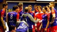 Volle Konzentration fordert United-Cheftrainer Michael Warm auch gegen Belgrad von seiner Mannschaft Foto: United Volleys/Heinz Mösinger