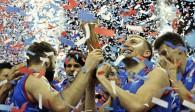 Die Serben feiern den Gewinn der World League Foto: FiVB