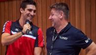 Alexander Burchartz (li.) mit Cheftrainer Dirgo Ronconi Foto: Andreas Arndt