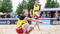 #RotesRudel Beachteam Bergmann / Harms beim smart cup in Nürnberg am Start Foto: kurt meyer-bergmann