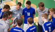 Trainer Adrian Pfleghar baut seine Spieler in der Auszeit immer wieder auf Foto: Günter Kram