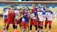 So sehen Viertelfinalisten aus: Die United Volleys bejubeln das 3:0 gegen Belgrad Foto: United Volleys