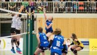 Spielte nicht nur im Angriff, sondern auch in der Abwehr eine starke Partie: Diagonalspielerin Laura Feldmann vom Team DSHS SnowTrex Köln (hier im Angriff im Spiel gegen Hamburg Foto: Martin Miseré