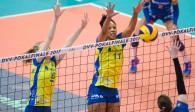 Lauren Barfield (Nummer 11) freut sich auf den Volleyball Supercup 2017  Foto: Conny Kurth, kurth-media.de