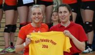 Im Trikot des Volleyball Leistungsstützpunkts Straubing wurde Dana Schmit 2016 als wertvollste Spielerin der Bayerischen Meisterschaft der Altersklasse U20 ausgezeichnet  Foto: Heiko Hauk