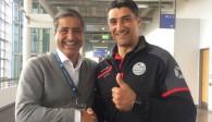 Berlins Manager Kaweh Niroomand und Bundestrainer Andrea Giani Foto: BR Volleys
