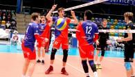 Tanz um den blau-gelben Ball beim United-Heimsieg gegen Rottenburg Foto: United Volleys/Manfred Neumann