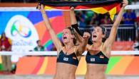 Platz zwei bei der Wahl zum Sportler des Monats: Laura Ludwig und Kira Walkenhorst. Foto: FiVB