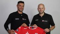 Idner Faustino Lima Martins (links), TVR-Manager Philipp Vollmer (rechts) Foto: Moritz Liss