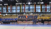 Stolze Siegerteams aus NRW bei den Mädchen und Sachsen bei den Jungs  Foto: Detlef Gottwald