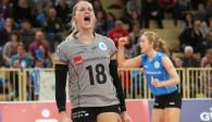 Große Freude bei VCW-Libera Lisa Stock über den Halbfinaleinzug Foto: Detlef Gottwald