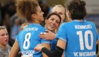 Schnuppern am Finale: Der VC Wiesbaden versucht in Stuttgart die Sensation Foto: Detlef Gottwlad
