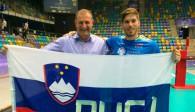 Beim World League-Finale wurde Jan Klobučar (rechts) nicht nur von United Volleys-Geschäftsführer Jörg Krick, sondern auch von den heimischen Fans ganz persönlich begrüßt Foto: United Volleys