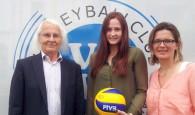 VC Wiesbaden verlängert Vertrag mit Mittelblockerin Rebecca Schäperklaus. Foto: CVW