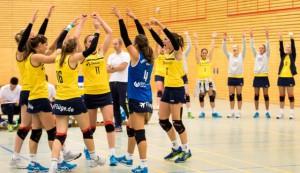 Konnten direkt zwei Siege zum Saisonauftakt bejubeln: Die Zweitliga-Volleyballerinnen vom Team DSHS SnowTrex
