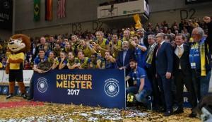 Der SSC Palmberg Schwerin ist Deutscher Meister 2016/17