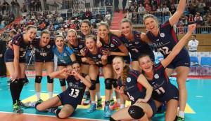 Großer Jubel: Der VCW gehört nun zu den besten vier Teams in Deutschland